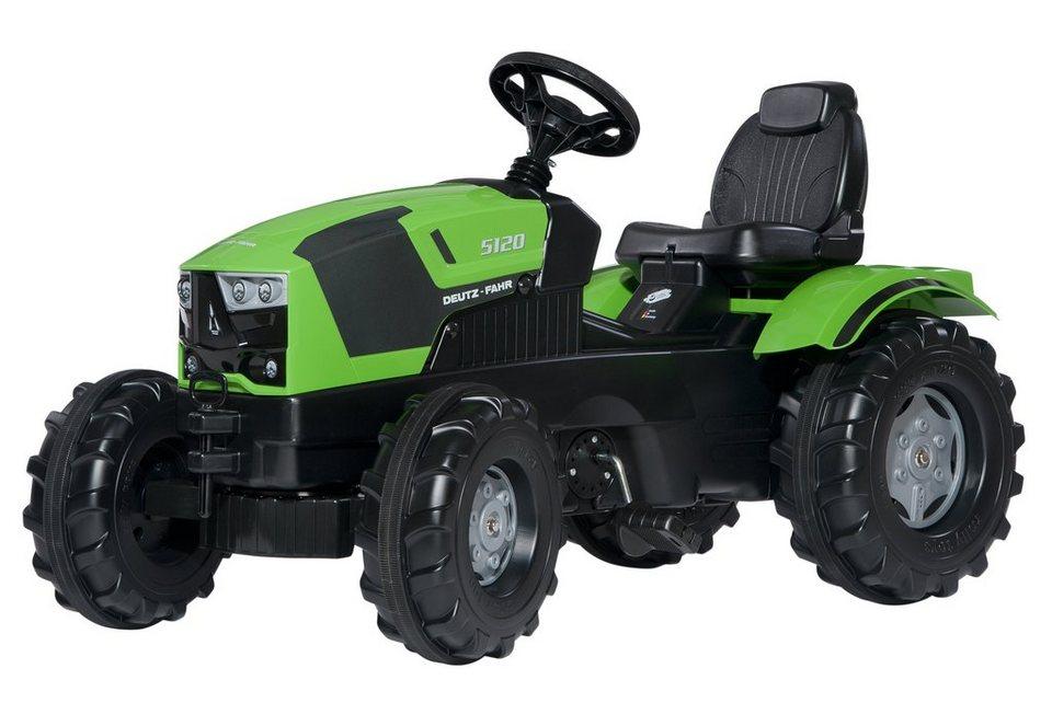 rolly toys® Trettraktor »rollyFarmtrac Deutz-Fahr 5120« in grün mit Flüsterlaufreifen