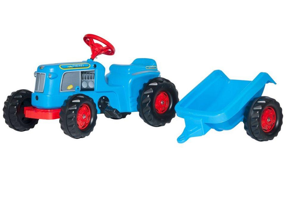 rolly toys® Trettraktor mit Anhänger »rollyKiddy Classic« in blau