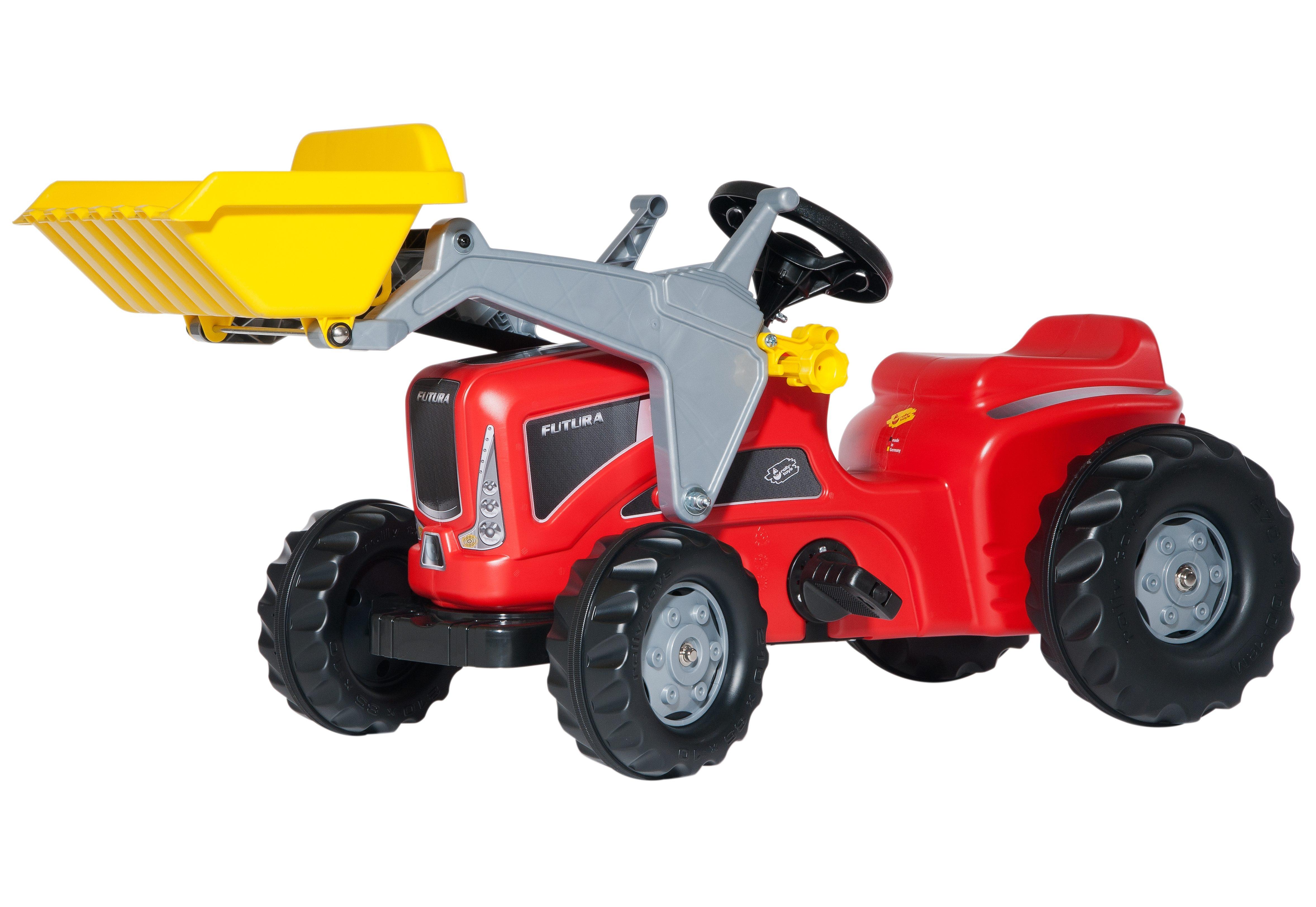 Rolly toys trettraktor mit frontlader rollykiddy futura