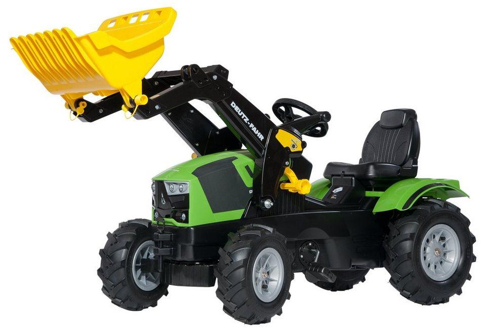 rolly toys® Trettraktor mit Frontlader und Luftbereifung »rollyFarmtrac Deutz-Fahr 5120« in grün mit Luftbereifung