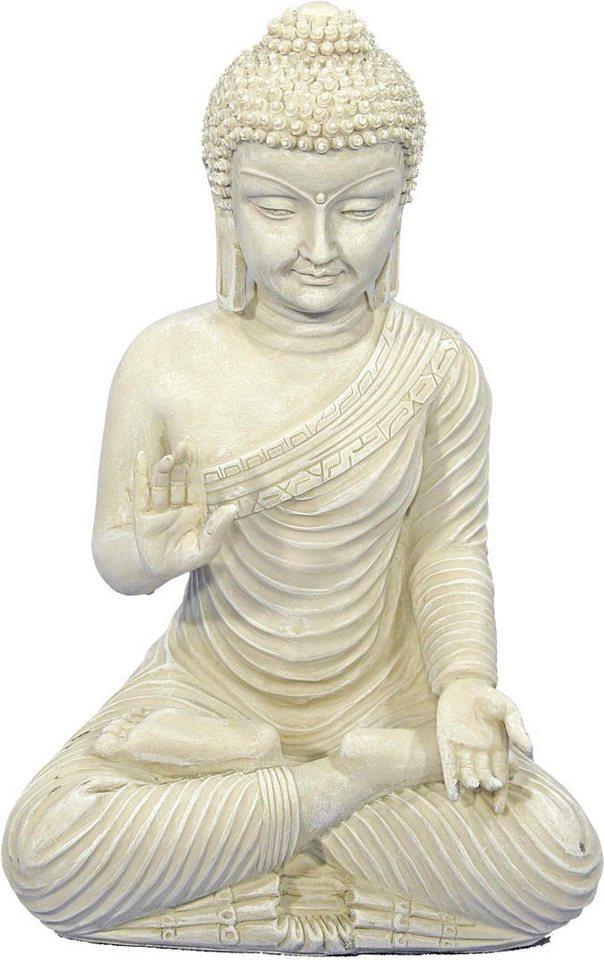 Dekofigur, Home affaire, »Buddha im Lotussitz« in weiß