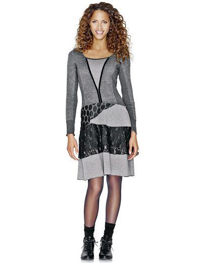 Linea Tesini By Heine Patch Dress With Lace