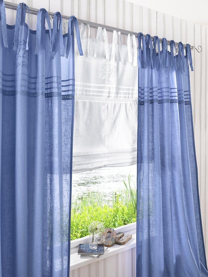 Dekoschal in blau