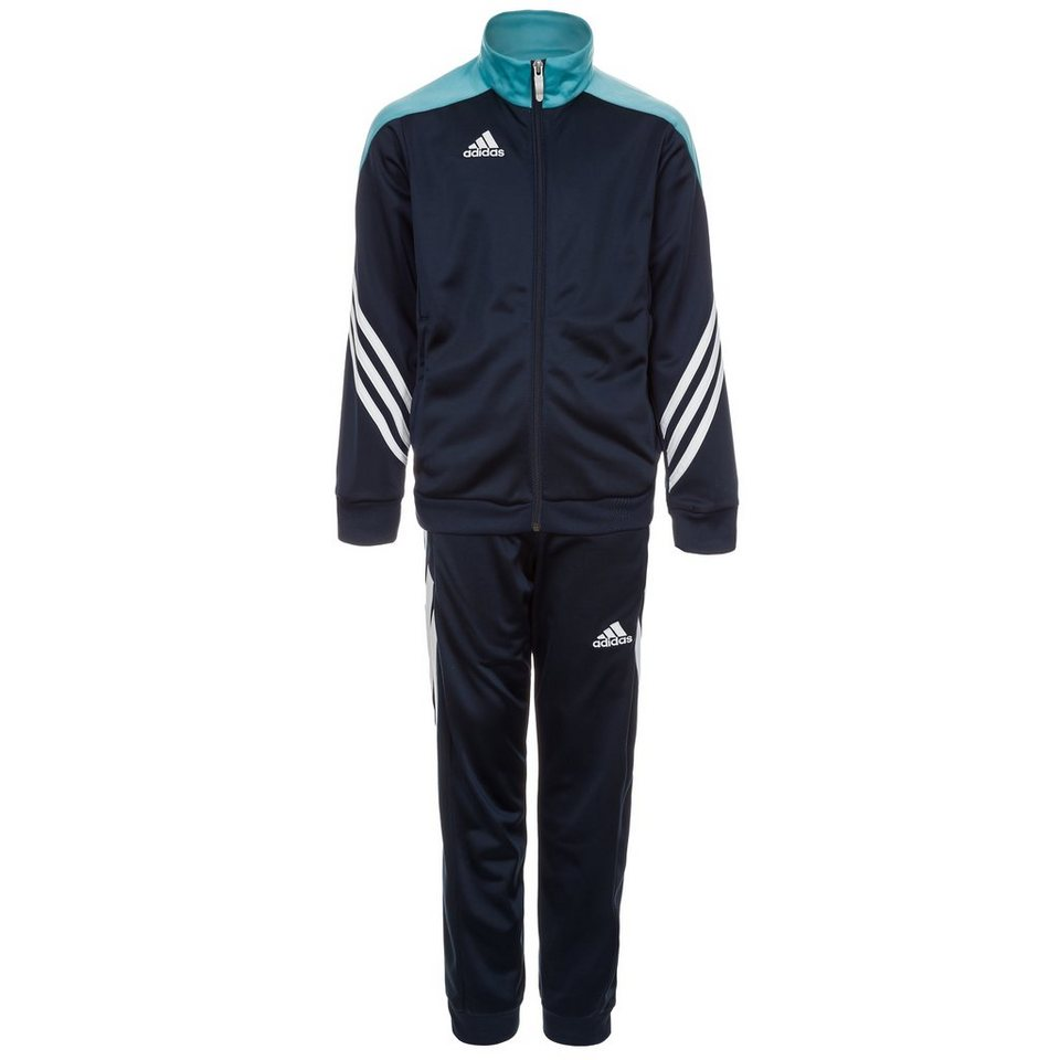 adidas Performance Set: Sereno 14 Polyesteranzug Kinder in blau / hellblau