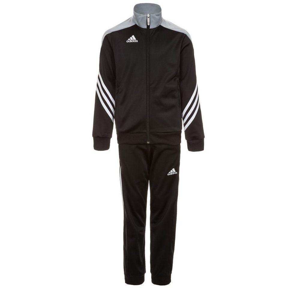 adidas Performance Set: Sereno 14 Polyesteranzug Kinder in schwarz / silber