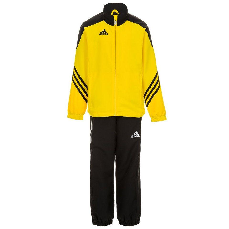 adidas Performance Set: Sereno 14 Präsentationsanzug Kinder in gelb / schwarz