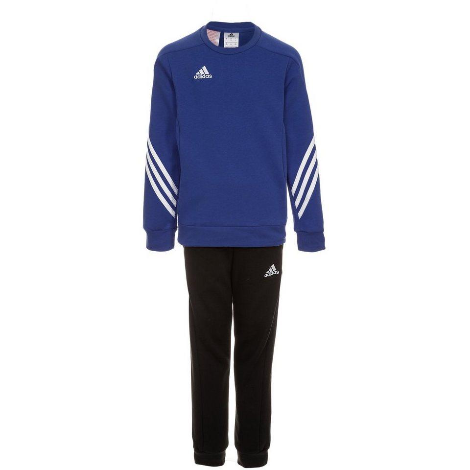 adidas Performance Set: Sereno 14 Trainingsanzug Kinder (Packung, 2 tlg.) in blau / schwarz