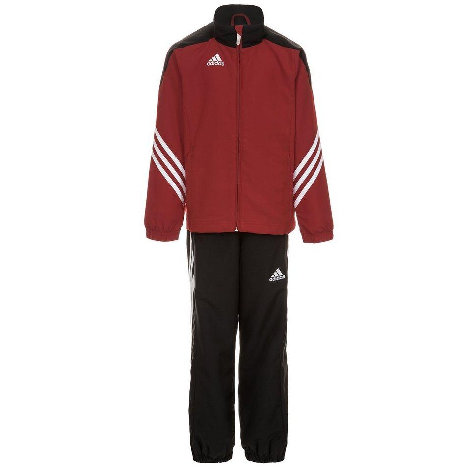 adidas Performance Set: Sereno 14 Präsentationsanzug Kinder in rot / schwarz / weiß