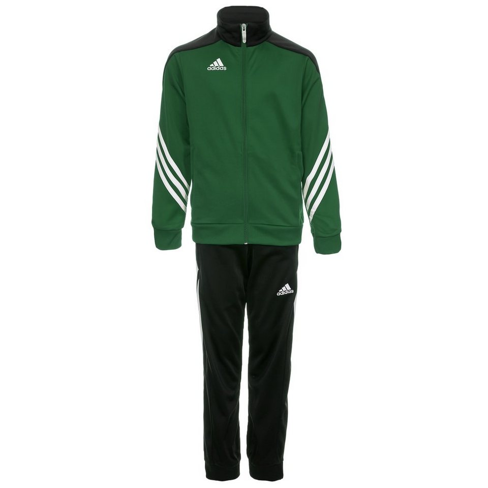 adidas Performance Set: Sereno 14 Polyesteranzug Kinder in grün / schwarz