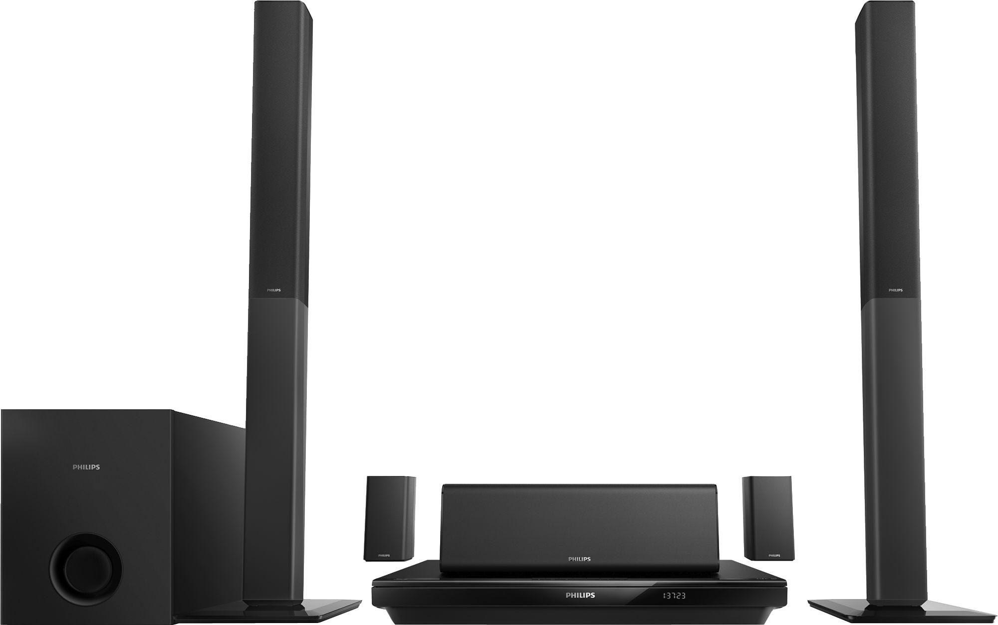 Philips HTB3550G 5.1 Heimkinosystem (Blu-ray-Player, 1.000 W, Bluetooth, NFC)