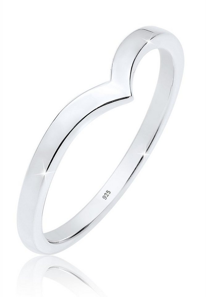 Elli Ring »Geo V-Stapelring 925 Silber« in Silber
