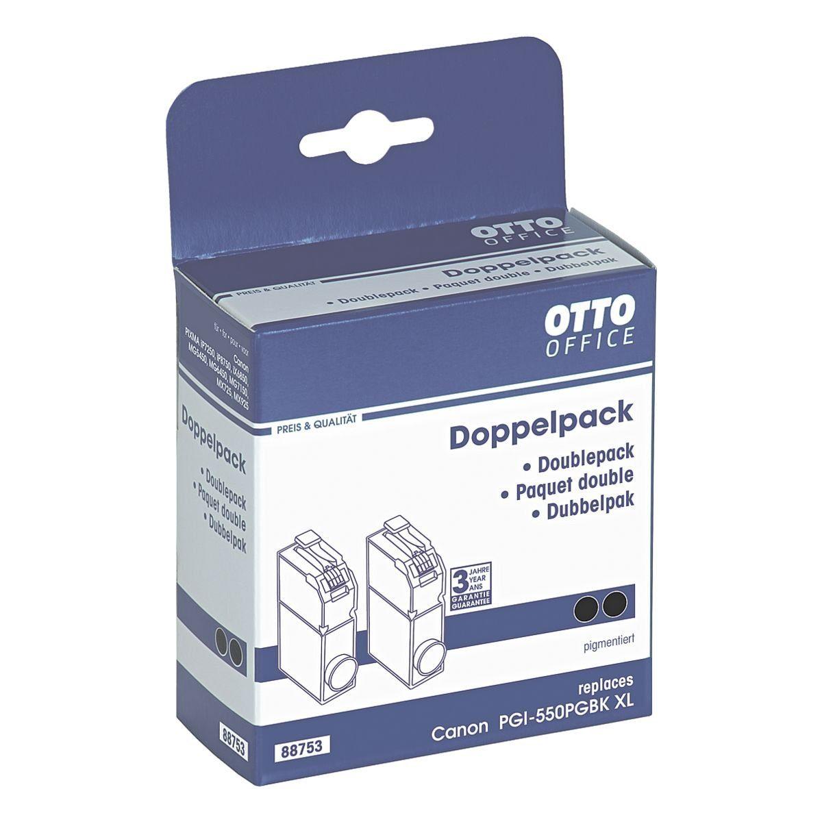 OTTO Office Standard Doppelpack Tintenpatrone ersetzt Canon »PGI-550 PGBK XL...