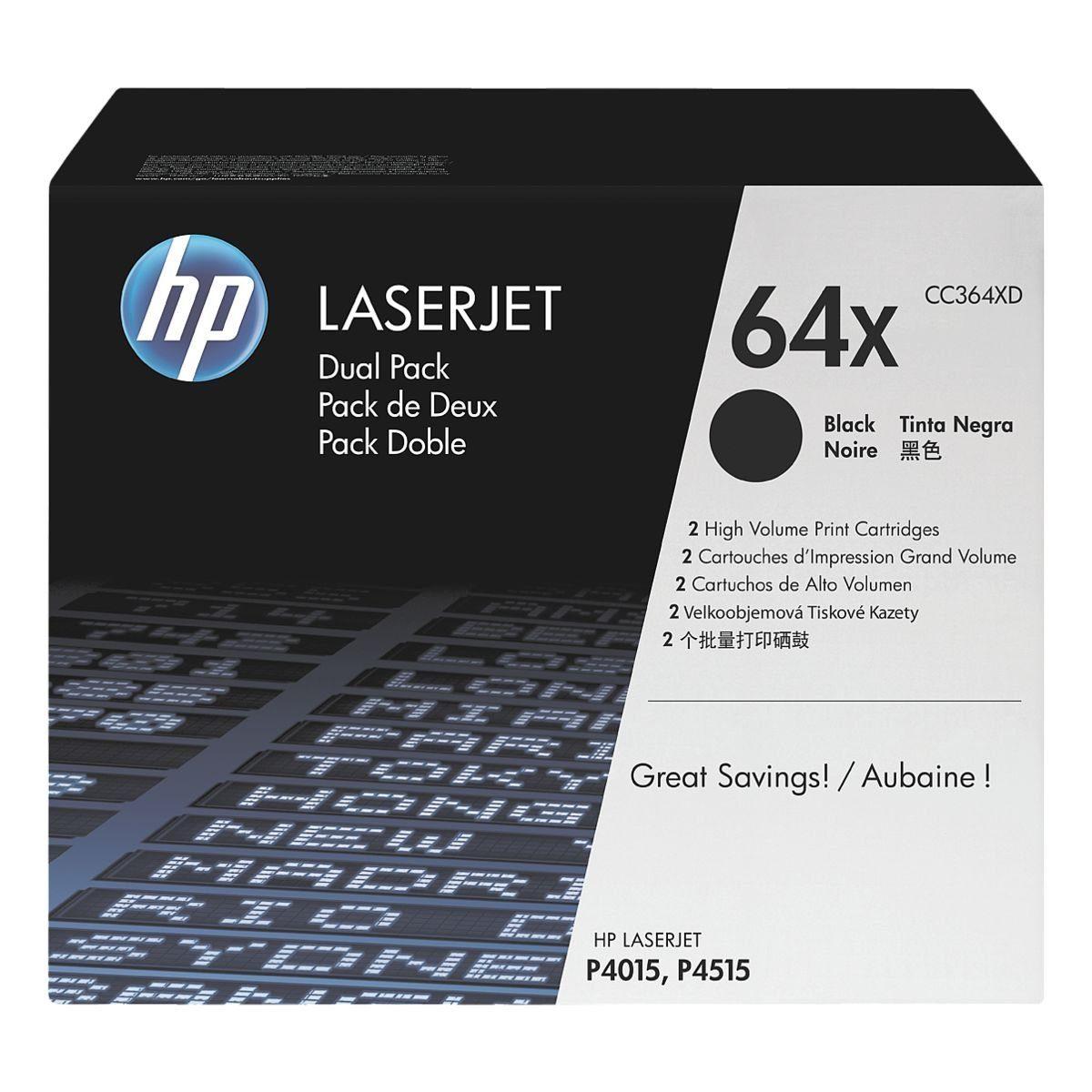 HP Doppelpack Druckkassetten »HP CC364XD« HP 64X