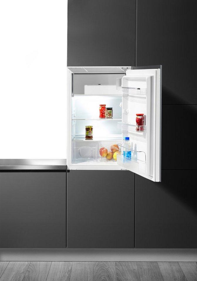 Hanseatic Einbaukühlschrank HEKS 8854GA1, A+, 88 cm hoch in weiß