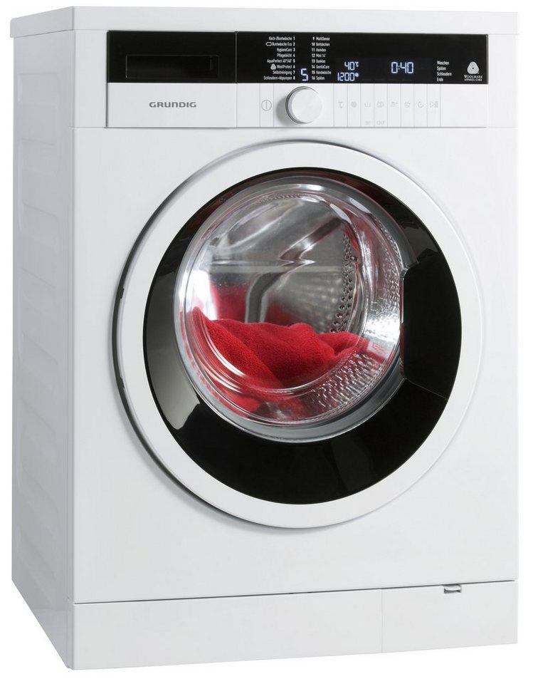 Grundig Waschmaschine GWN 48631, A+++, 8 kg, 1600 U/Min