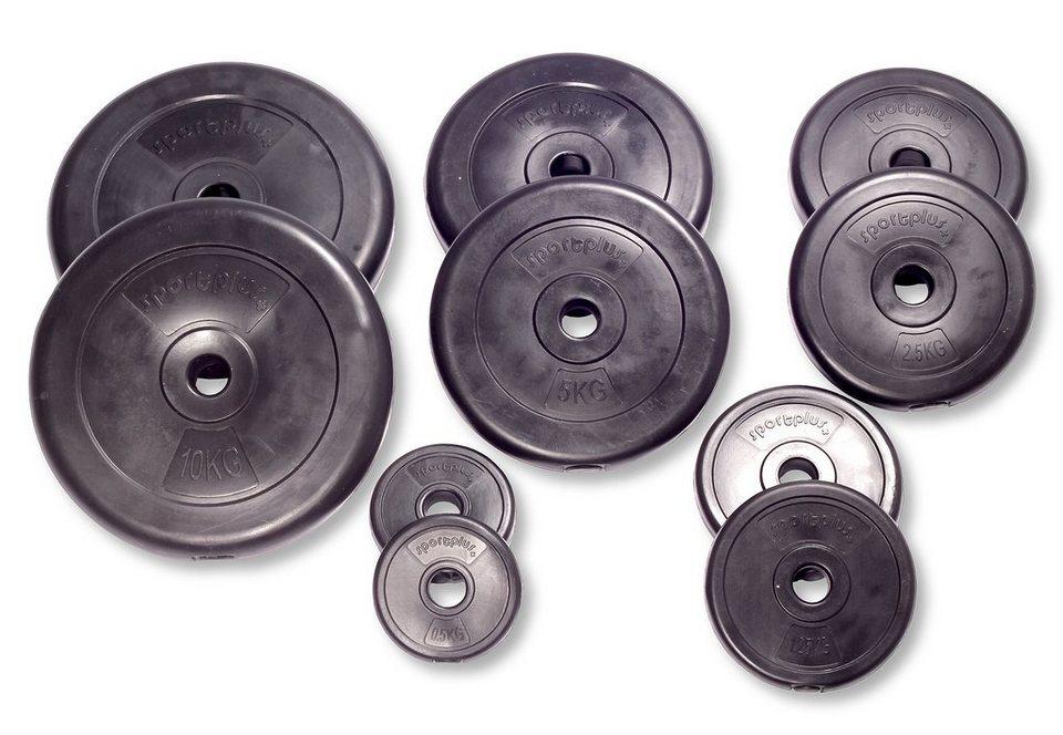 Hantelscheiben-Set, »SP-WS-038-V«, Sportplus, 38,5 kg in Schwarz