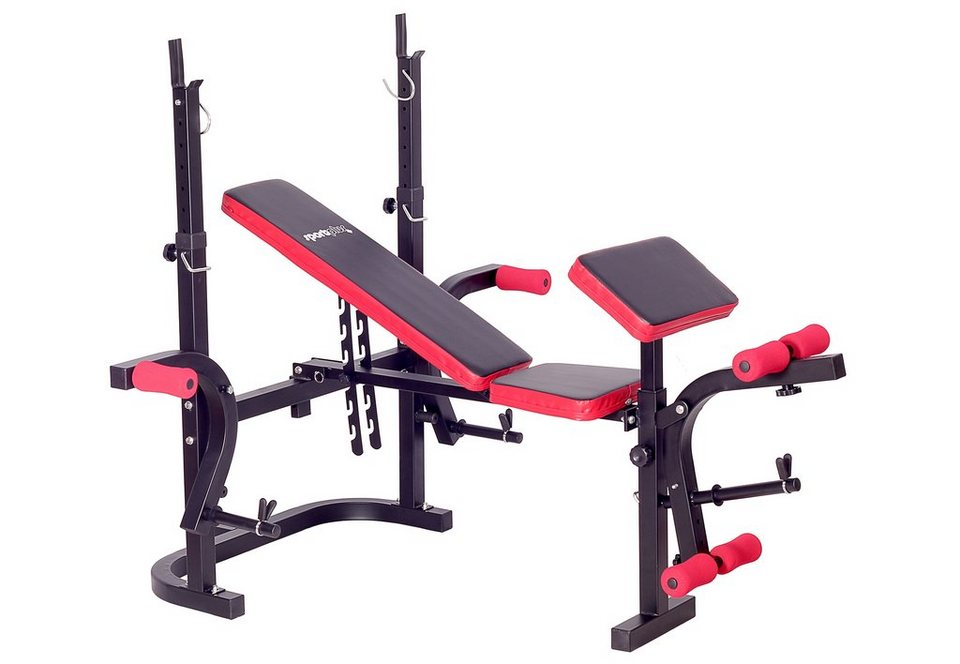 Hantelbank, »Weight Bench SP-WB-003-B«, Sportplus in Schwarz/Rot