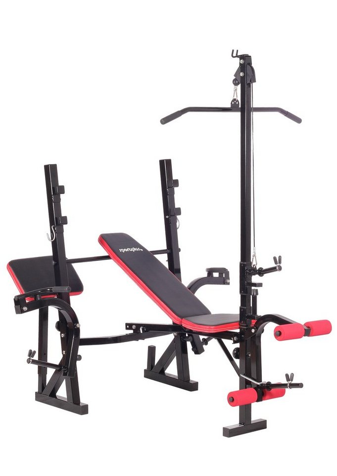 Hantelbank, »Weight Bench SP-WB-005-B«, Sportplus in Schwarz/Rot