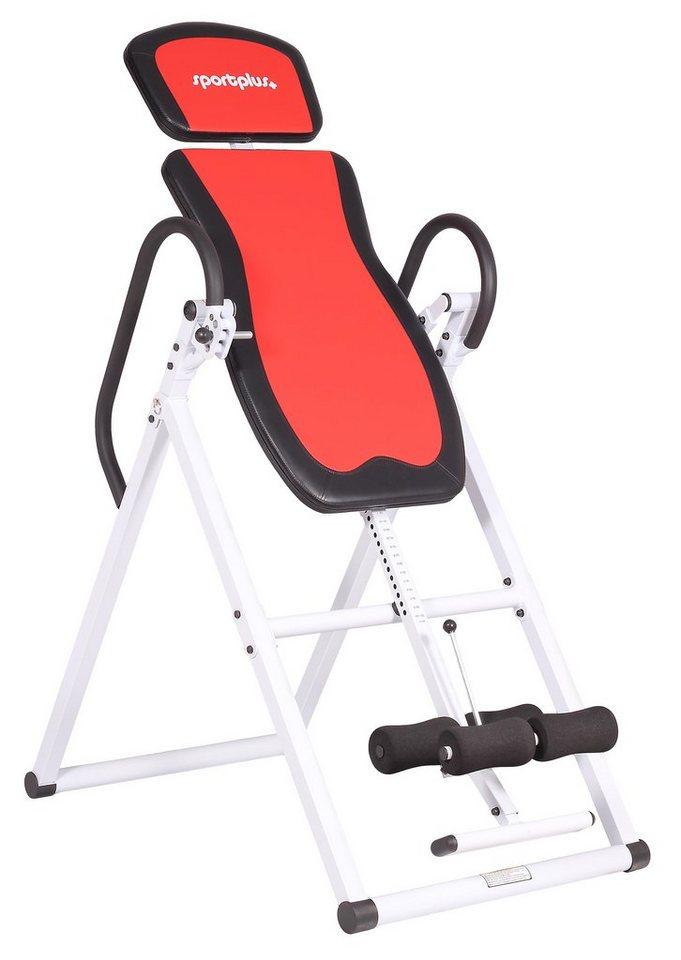 Schwerkrafttrainer, »Inversion Table SP-INV-010«, Sportplus in Weiß/Schwarz/Rot