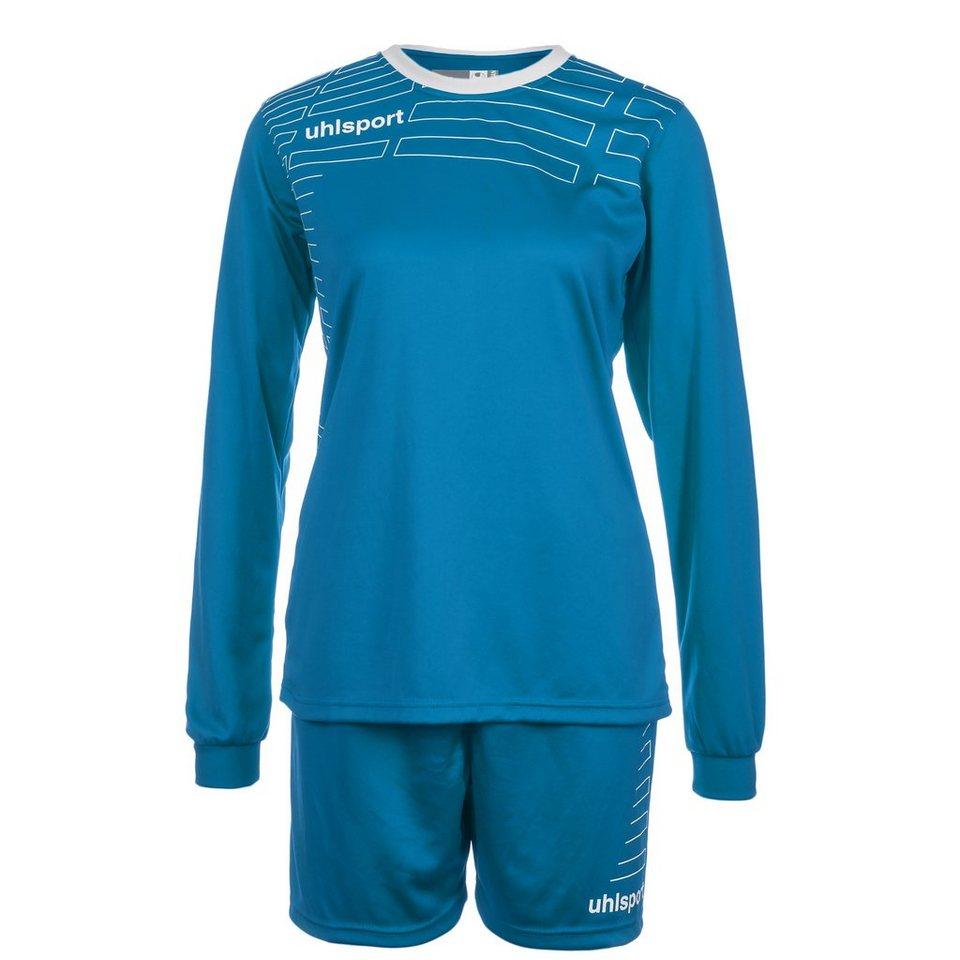 UHLSPORT Match Team Kit Longsleeve Damen in cyan/weiß