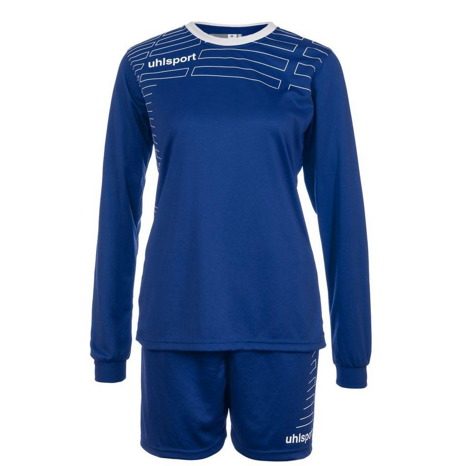 UHLSPORT Match Team Kit Longsleeve Damen in azurblau/weiß