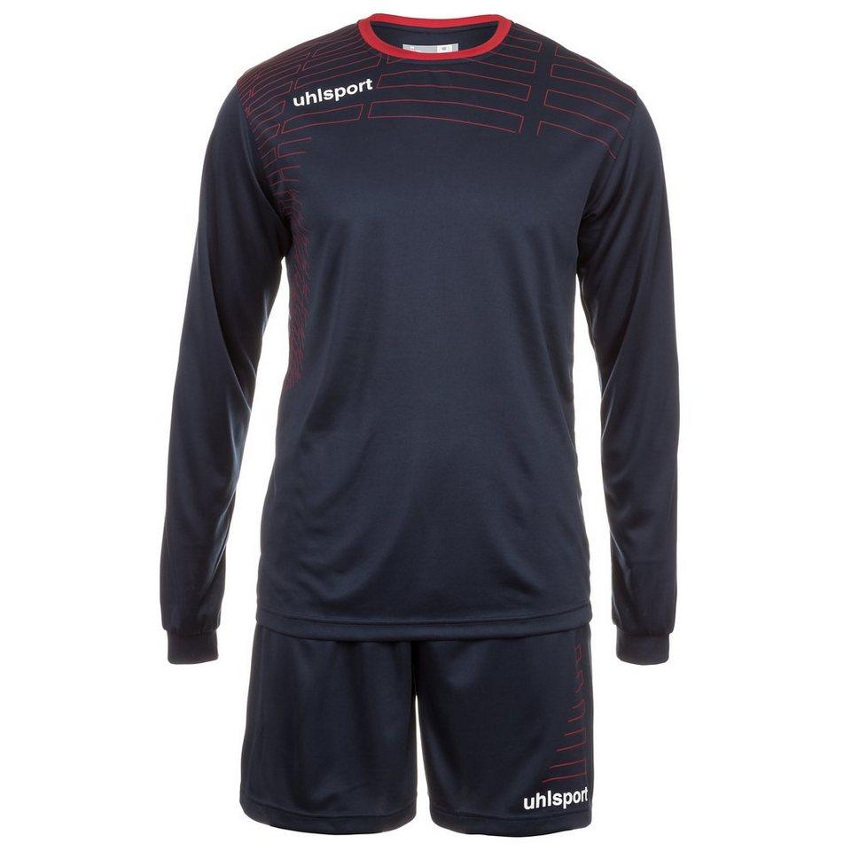 UHLSPORT Match Team Kit Longsleeve Kinder in marine/rot