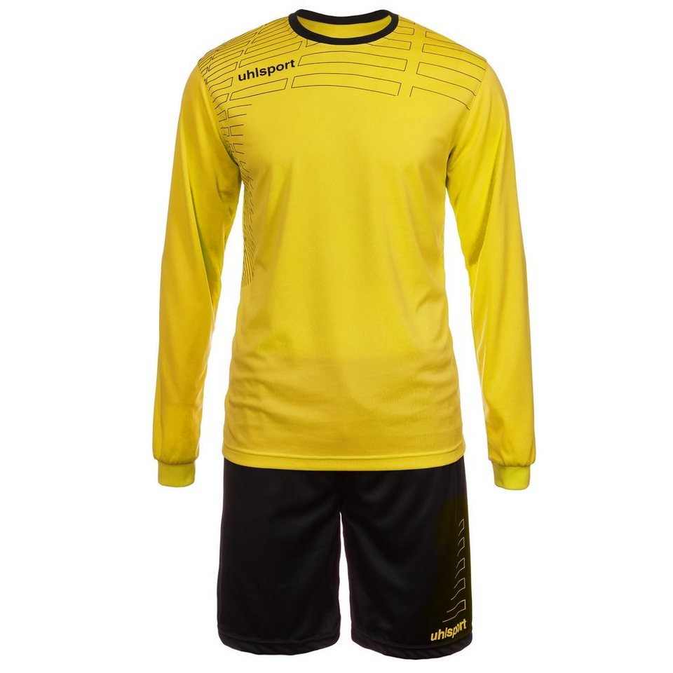 UHLSPORT Match Team Kit Longsleeve Herren in limonen gelb/schwarz