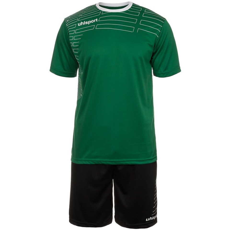 UHLSPORT Match Team Kit Shortsleeve Herren in lagune/weiß