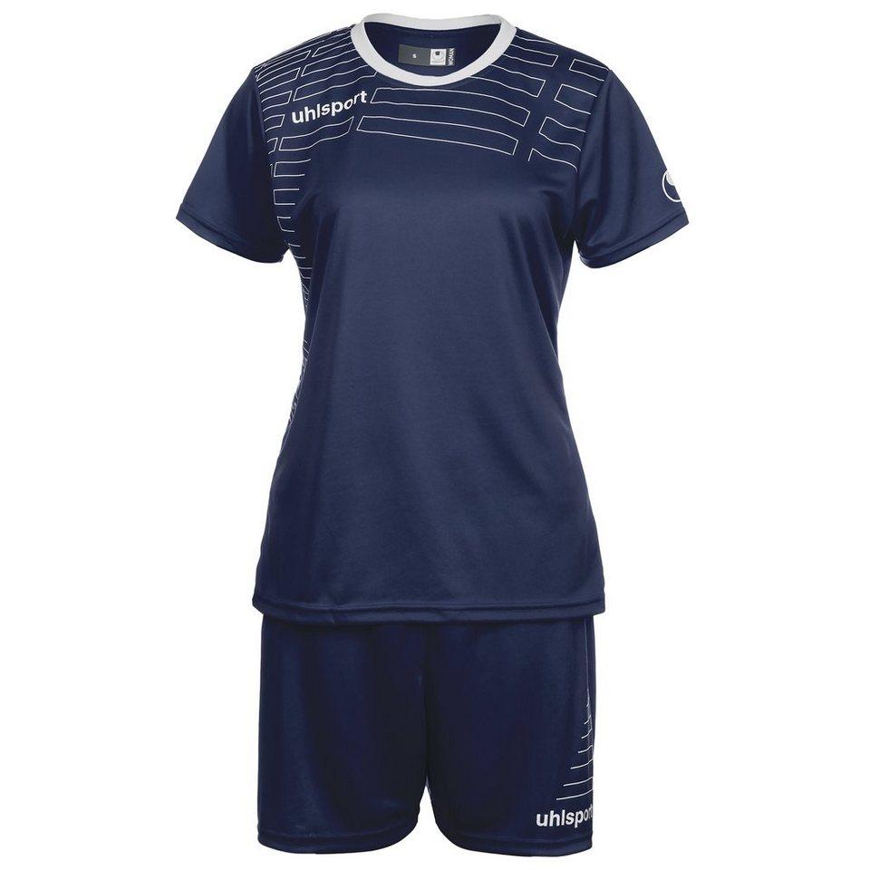 UHLSPORT Match Team Kit Shortsleeve Damen in marine/weiß