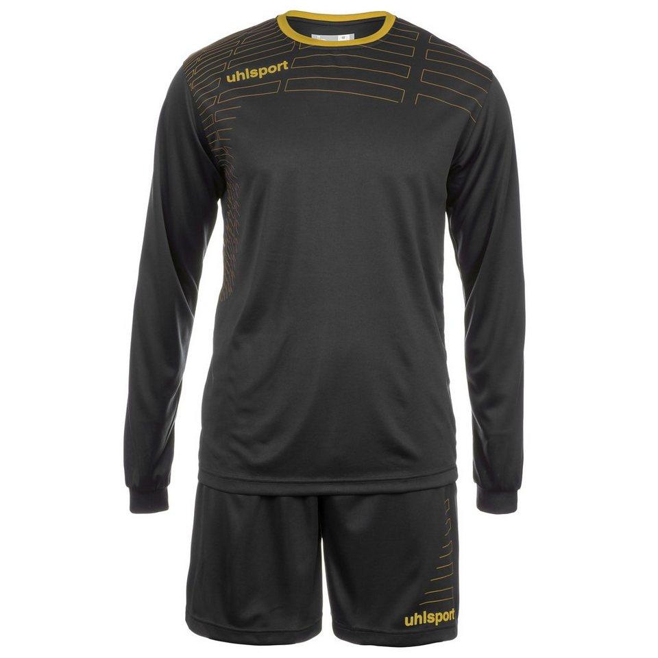 UHLSPORT Match Team Kit Longsleeve Kinder in schwarz/gold