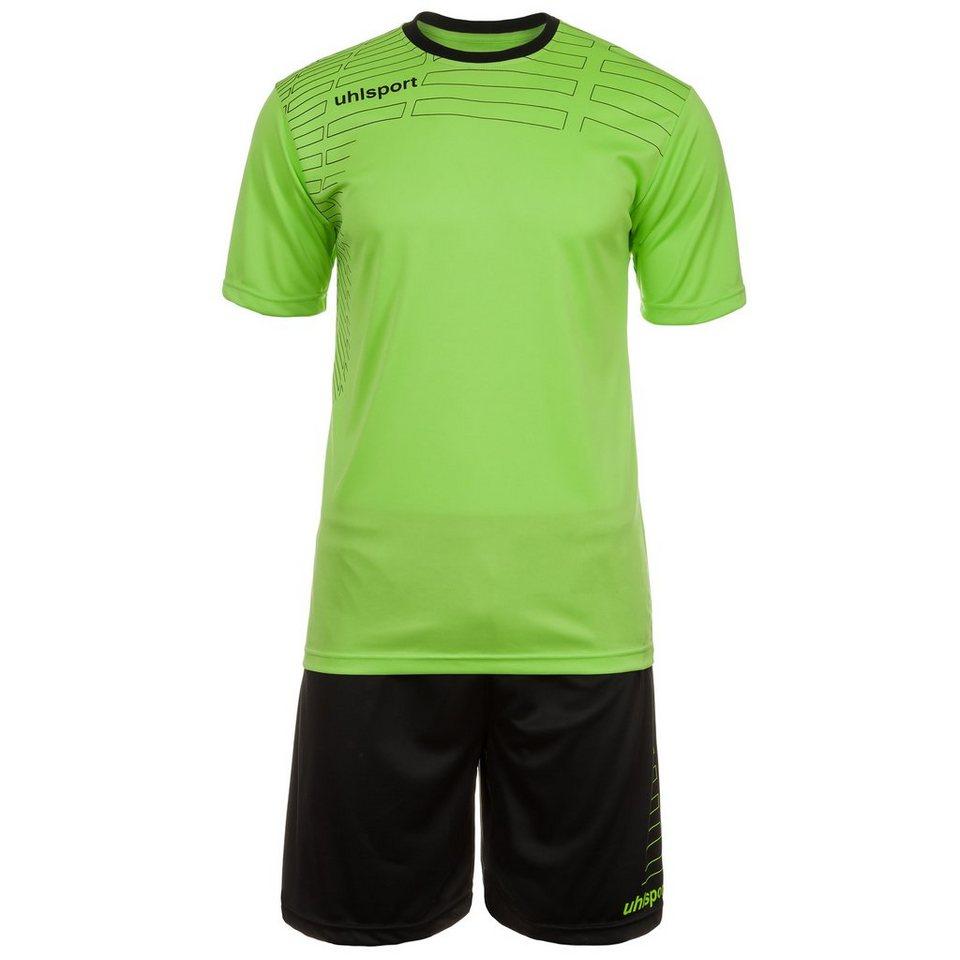 UHLSPORT Match Team Kit Shortsleeve Kinder in grün flash/schwarz