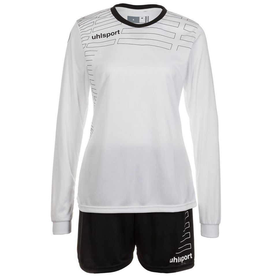 UHLSPORT Match Team Kit Longsleeve Damen in weiß/schwarz