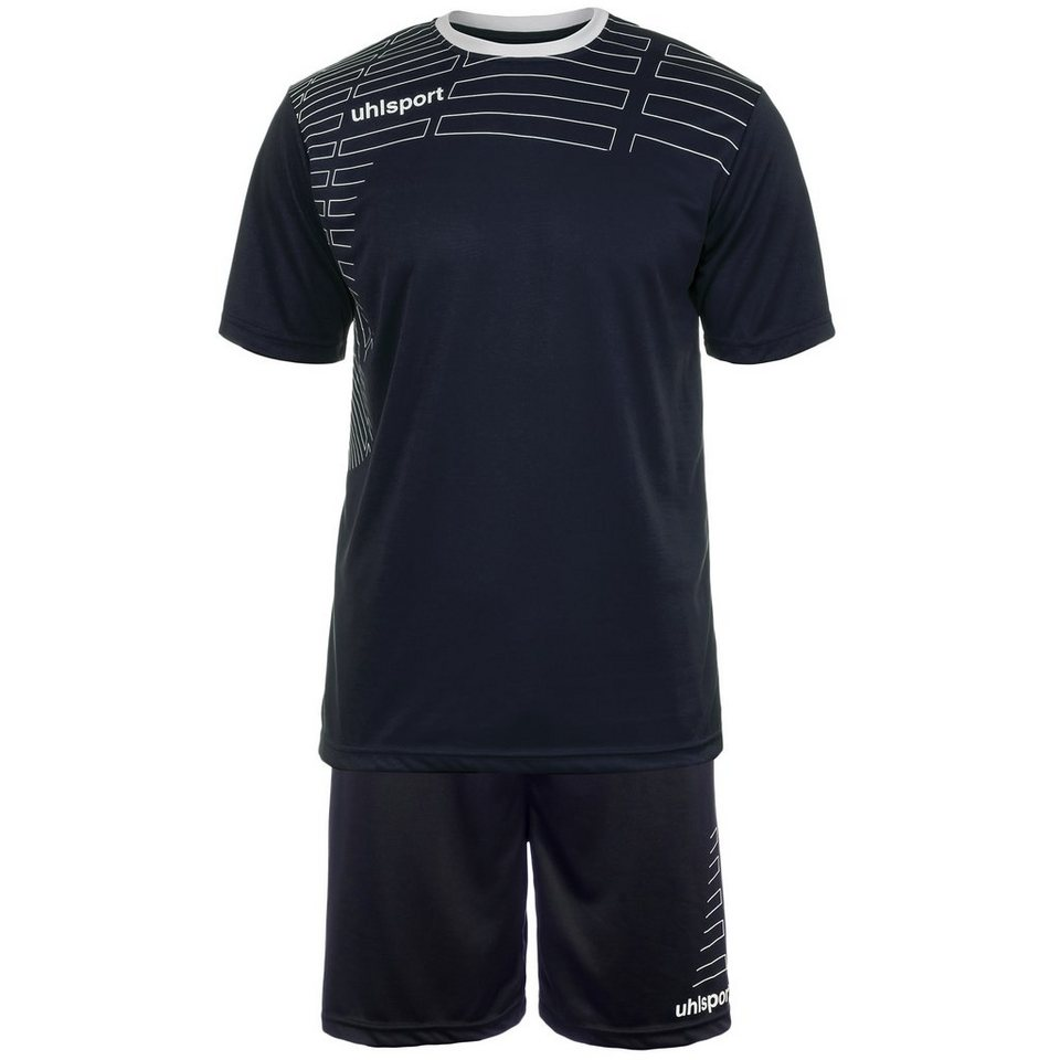 UHLSPORT Match Team Kit Shortsleeve Herren in marine/weiß