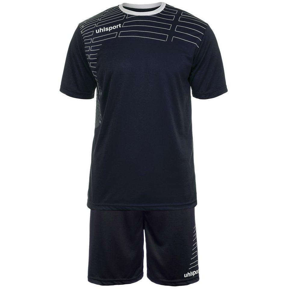 UHLSPORT Match Team Kit Shortsleeve Kinder in marine/weiß