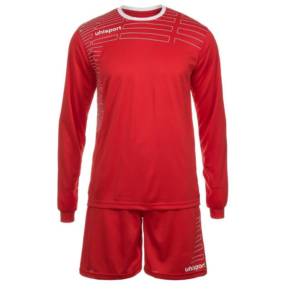 UHLSPORT Match Team Kit Longsleeve Kinder in rot/weiß
