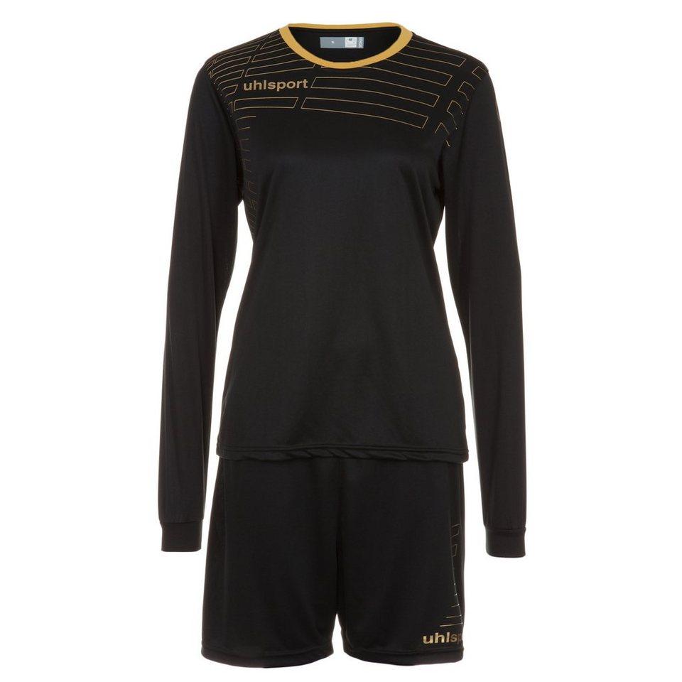 UHLSPORT Match Team Kit Longsleeve Damen in schwarz/gold