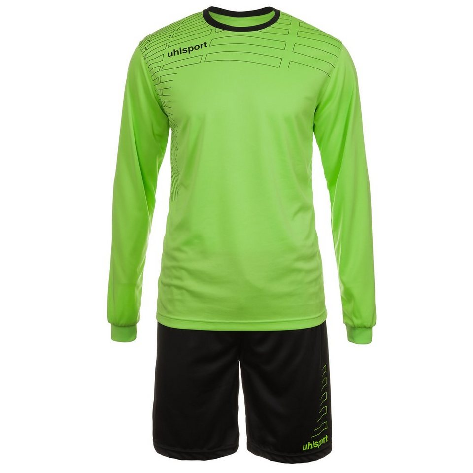 UHLSPORT Match Team Kit Longsleeve Kinder in grün flash/schwarz