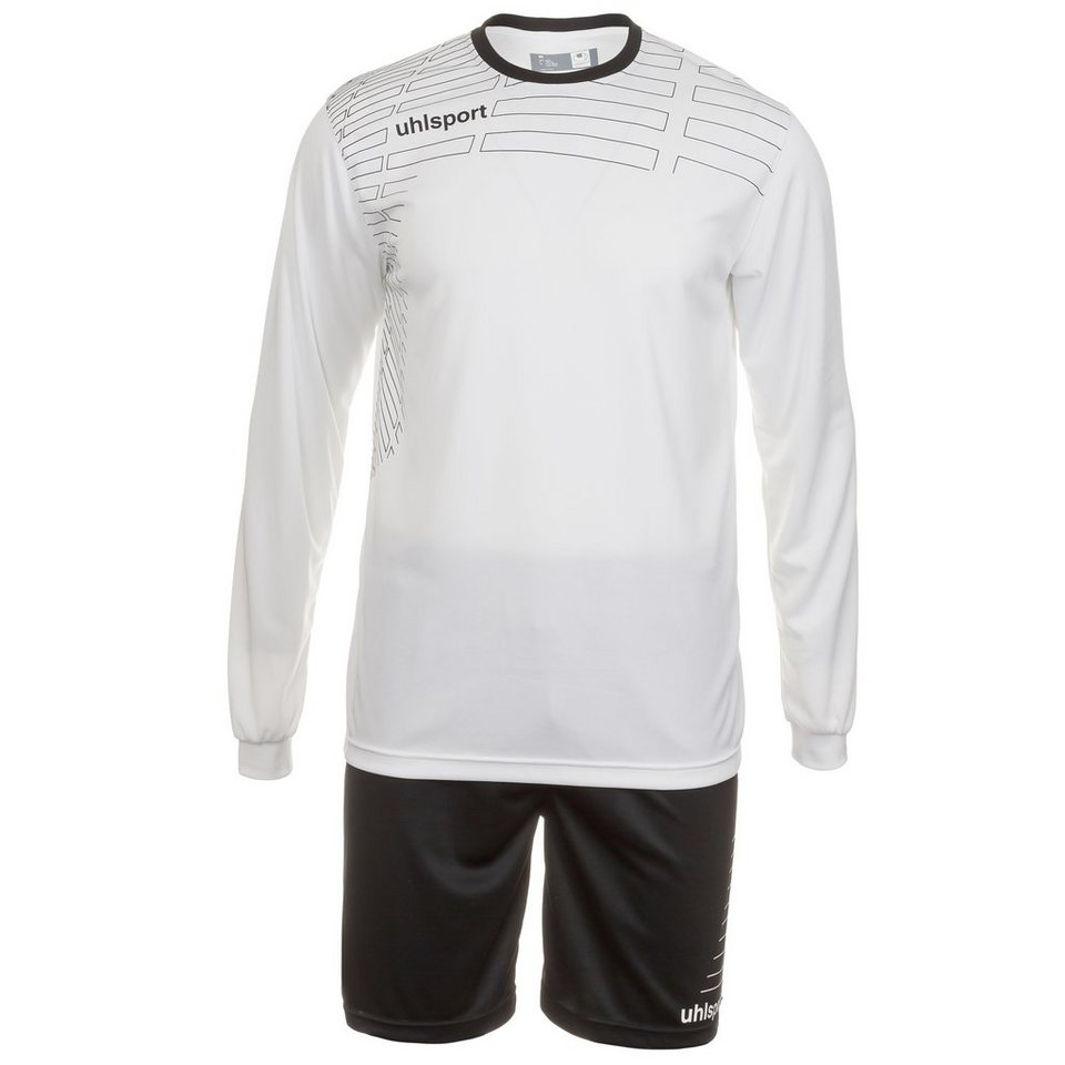 UHLSPORT Match Team Kit Longsleeve Kinder in weiß/schwarz