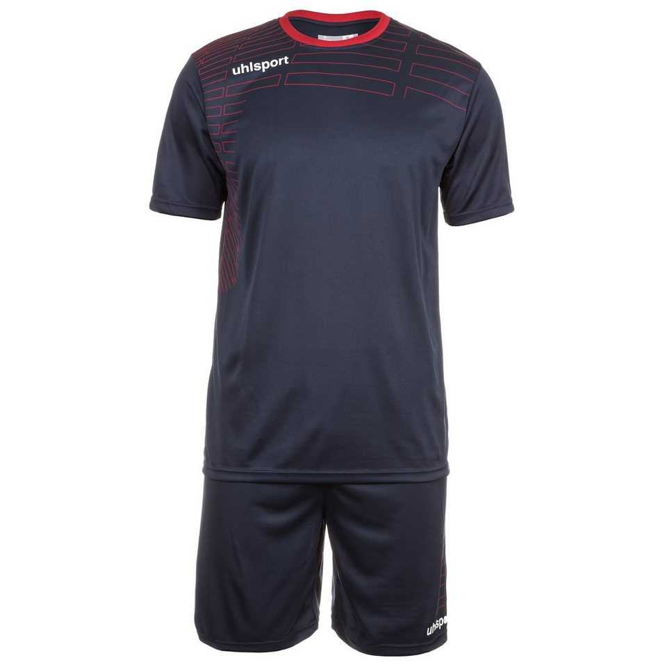 UHLSPORT Match Team Kit Shortsleeve Herren in marine/rot