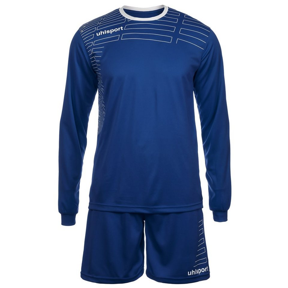 UHLSPORT Match Team Kit Longsleeve Kinder in azurblau/weiß