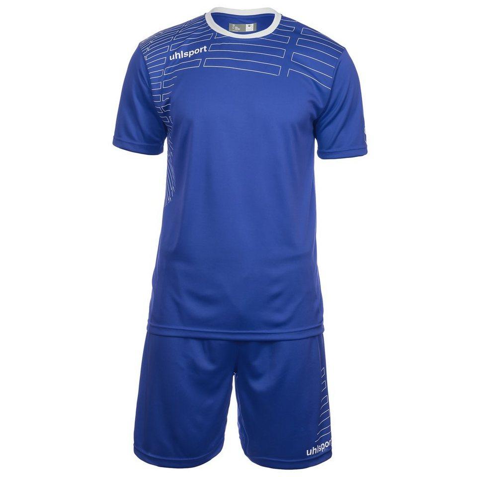 UHLSPORT Match Team Kit Shortsleeve Herren in azurblau/weiß
