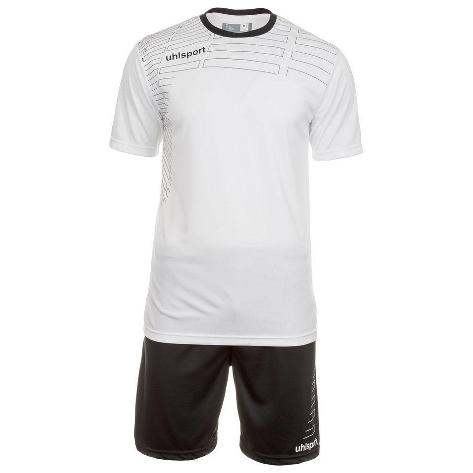 UHLSPORT Match Team Kit Shortsleeve Kinder in weiß/schwarz