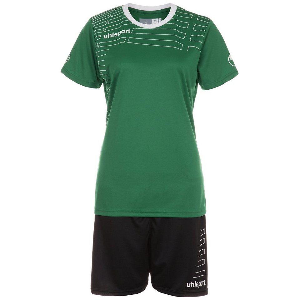 UHLSPORT Match Team Kit Shortsleeve Damen in lagune/weiß