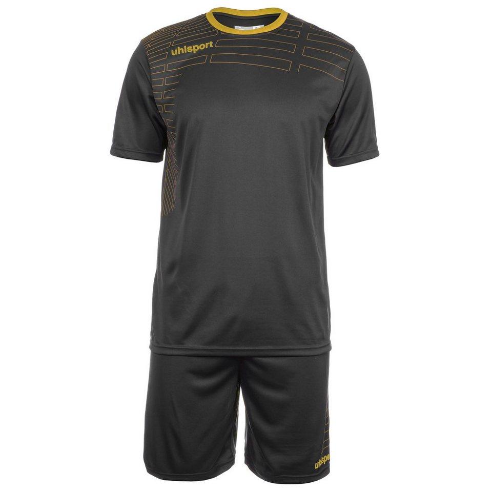UHLSPORT Match Team Kit Shortsleeve Kinder in schwarz/gold
