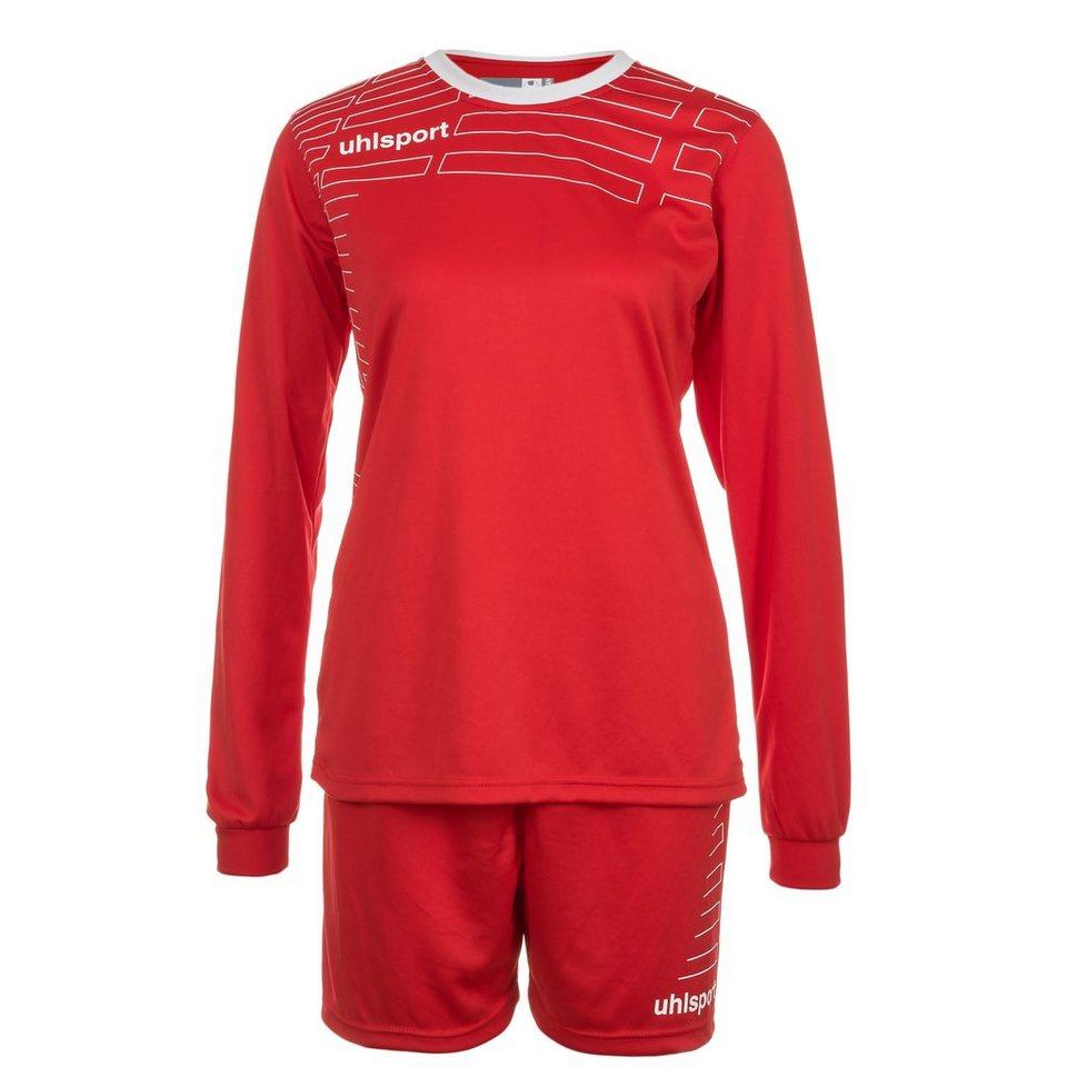 UHLSPORT Match Team Kit Longsleeve Damen in rot/weiß