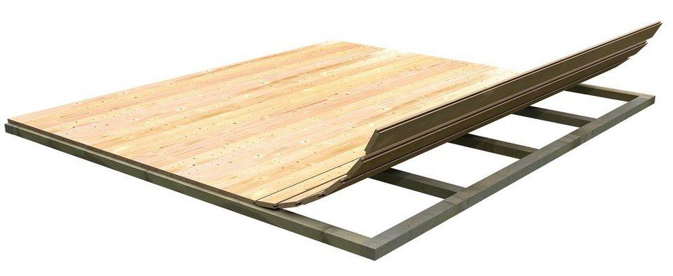 Fußboden für Gartenhäuser »(BxT: 238 x 213 cm)« in natur