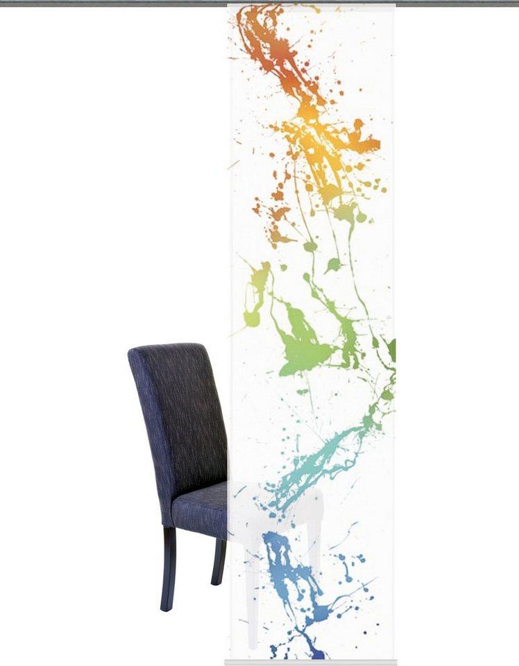 Schiebegardine, Home Wohnideen, »Blanca«, mit Klettband (1 Stück) in multicolor