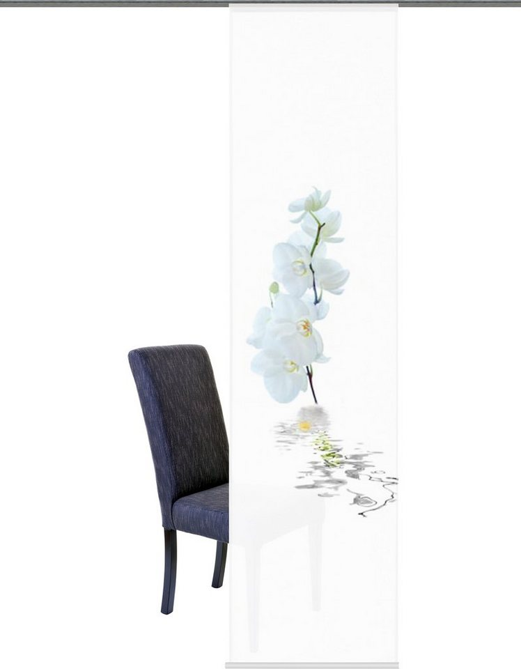 schiebegardine home wohnideen calais mit klettband 1 st ck mit zubeh r online kaufen otto. Black Bedroom Furniture Sets. Home Design Ideas