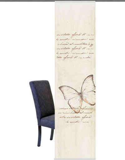 Schiebegardine »Kolari«, HOME WOHNIDEEN, Klettband (1 Stück), HxB: 245x60, inkl. Beschwerungsstange