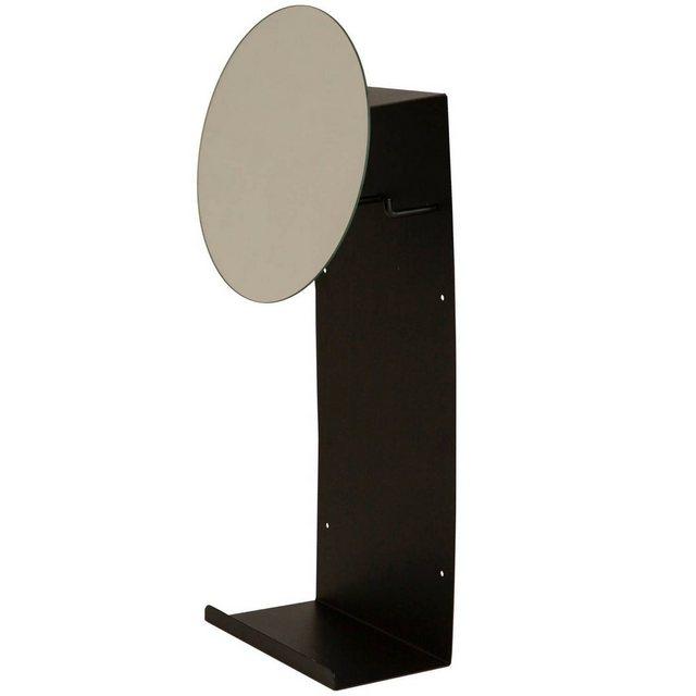 Garderobenleisten und Haken - mokebo Garderobenleiste »Die Ankleide«, in schwarz Metall mit Spiegel  - Onlineshop OTTO